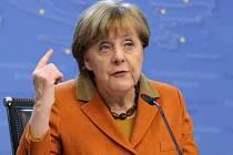 Angela Merkelová na summitu v Turecku v roce 2016.