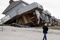 Následky bouře Sandy v New Yorku.
