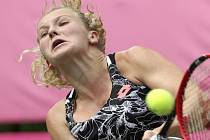 Kateřina Siniaková na turnaji v Tokiu.