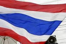 Thajsko - vlajka - ilustrační foto