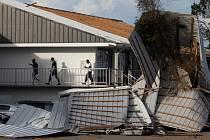 Zničené domy v USA po hurikánu Ida.