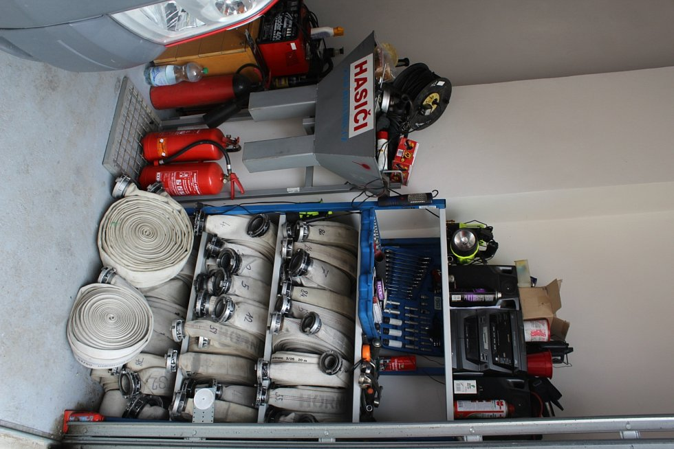 Vybavení žlebských hasičů.