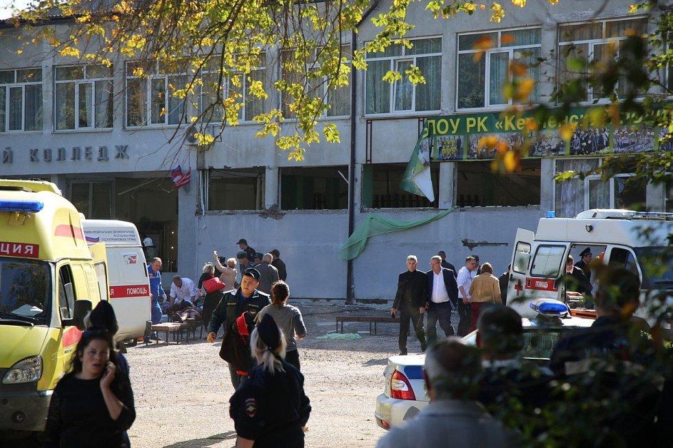 Útok ve škole v Kerči na Krymu.
