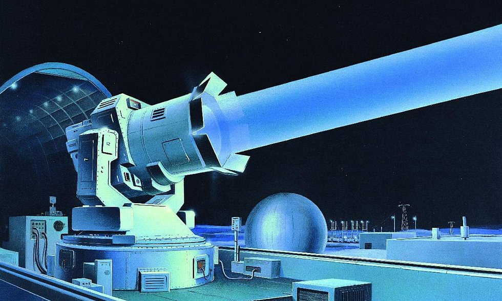 Sovětský pozemní laser vyvíjený v 80. letech minulého století. Ilustrační snímek