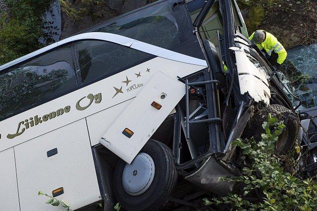 Nehoda autobusu. Ilustrační snímek
