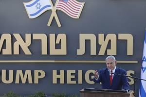 Benjamin Netanjahu na okupovaných Golanských výšinách otevřel novou židovskou osadu, pojmenovanou po Donaldu Trumpovi