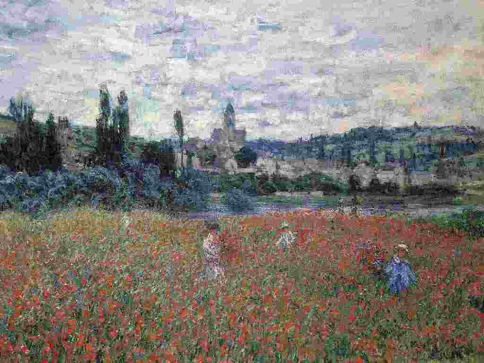 Makové pole u Vetheuil od Clauda Moneta.