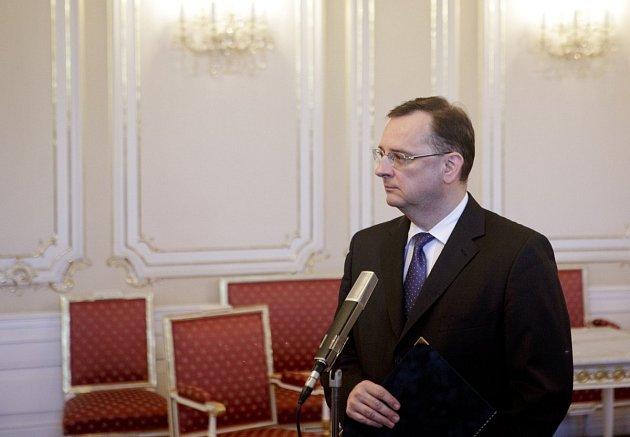 Odstupující premiér Petr Nečas