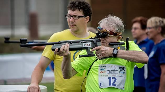 Sportovní hry seniorů probíhaly 30. května v Praze.