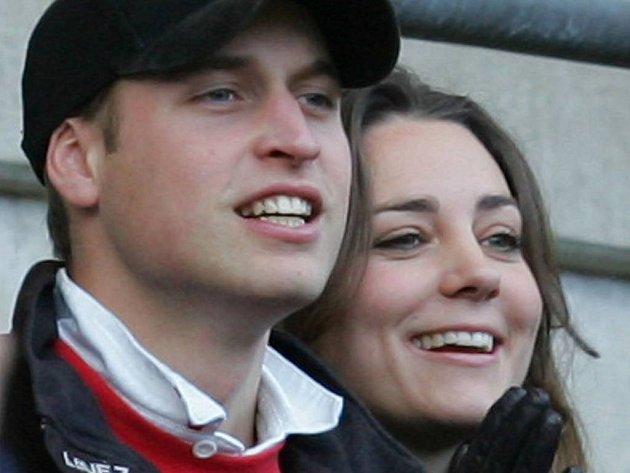 Princ William a jeho ex-přítelkyně Kate Middletonová