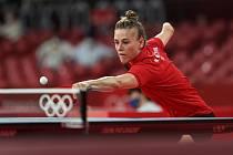 Polská stolní tenistka Natalia Partykaová na olympiádě v Tokiu.