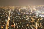 Pohled z věže Taipei 101.