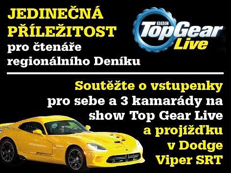 Vyhrajte vstupenky na show a projížďku v Dodge Viper SRT.