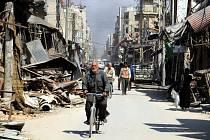 Zničené městou Dúmá, ilustrační foto.