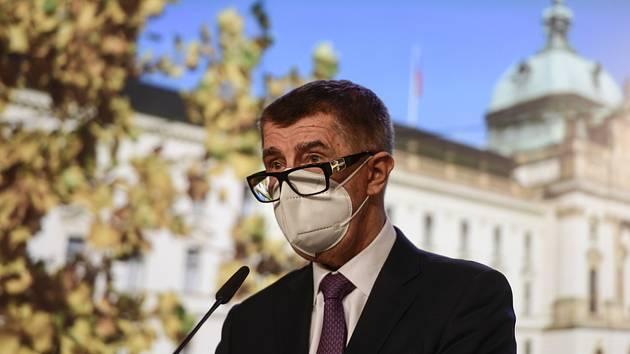 Předseda vlády Andrej Babiš (na snímku z 14. prosince 2020).