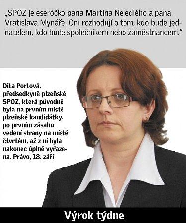 Citát Dity Portové.