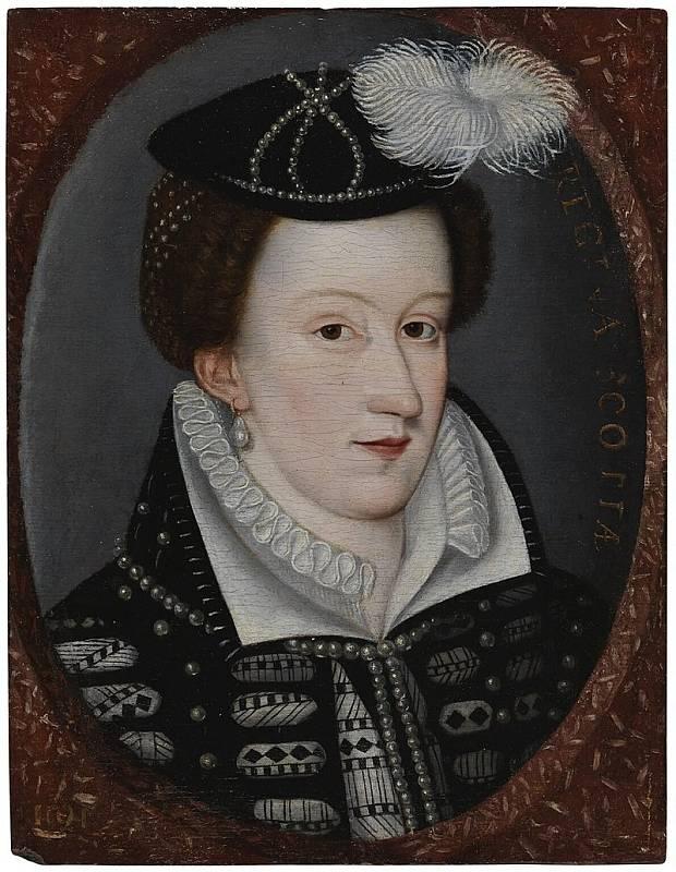 Marie Stuartovna v letech, kdy byla vězněná Alžbětou I. v Anglii. V zajetí prožila osmnáct let.