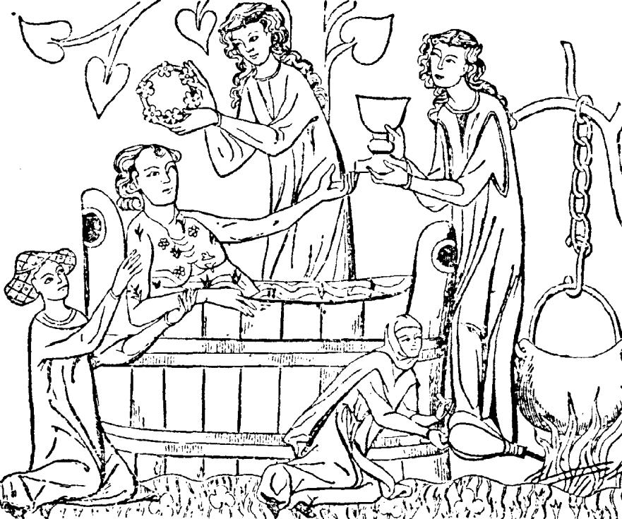 Koupel v lázni