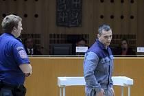 David Berdych na jednání Obvodního soudu pro Prahu 6, který 24. června znovu projednával jeho žádost o předčasné propuštění z vězení.