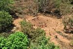 Kráter po meteoritu, které spadl poblíž letiště metropole Managua.