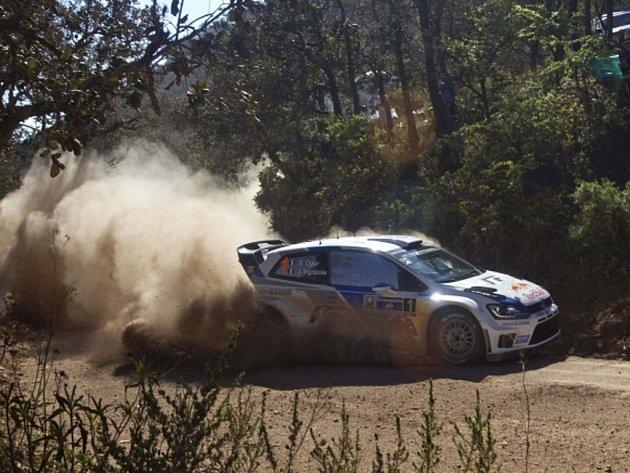 Sébastien Ogier na Mexické rallye.
