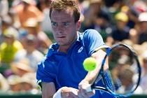 Jan Šátral v Davis Cupu proti Austrálii.