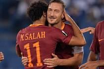 Kapitán AS Řím Francesco Totti připravil dva góly proti Astře