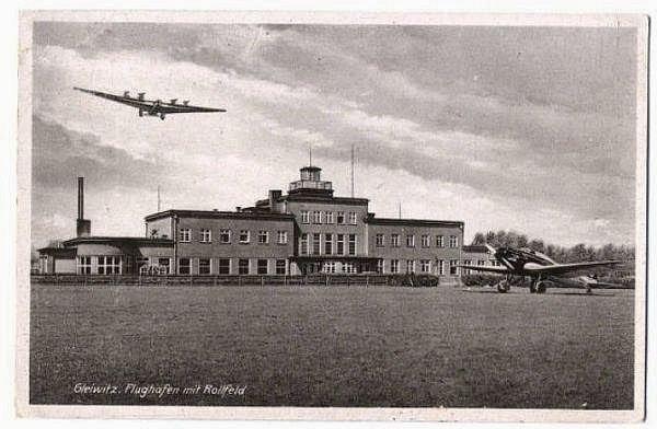 Letiště v Gliwicích během 2. světové války - právě bitva o Gliwice byla předehrou k masakru