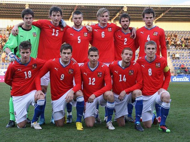 Základní jedenáctka fotbalové reprezenace do jednadvaceti let pro utkání proti Finsku.