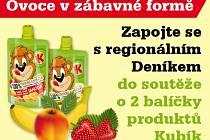 Zapojte se s regionálním Deníkem do soutěže o 2 balíčky produktů Kubík.