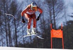 Aksel Lund Svindal si jede pro zlato v olympijském sjezdu.