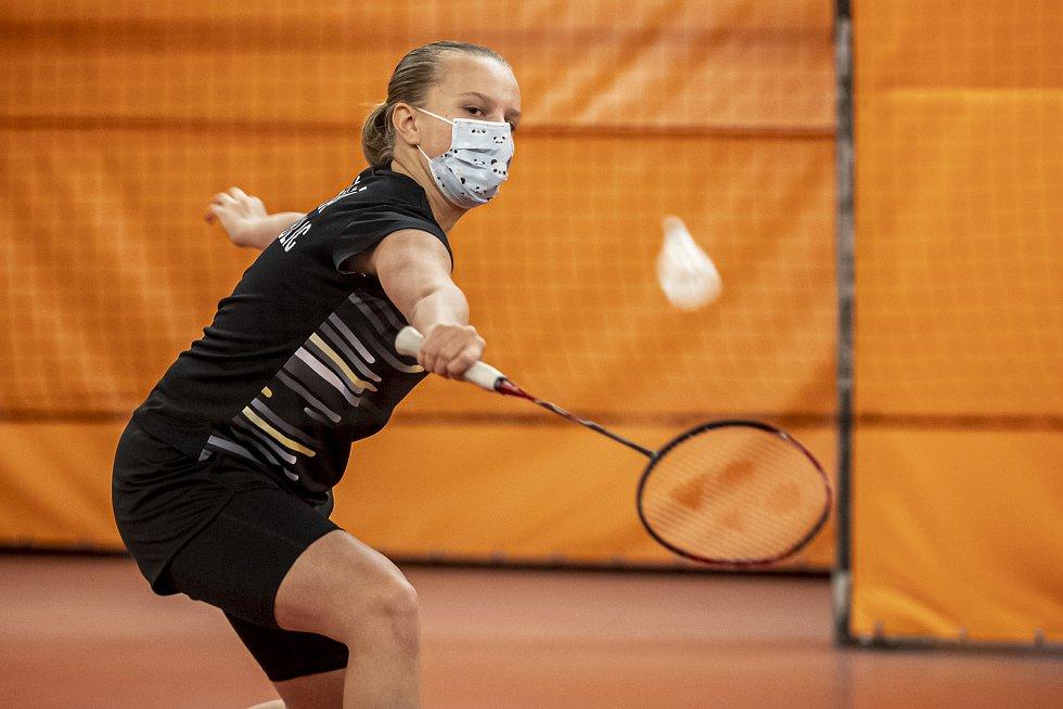 Barbora Bursová při tréninku v roušce 1. prosince v Praze.
