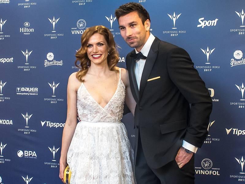 Vyhlašování ankety Sportovec roku probíhalo 21. prosince v Praze. Gabriela Koukalová a Petr Koukal.