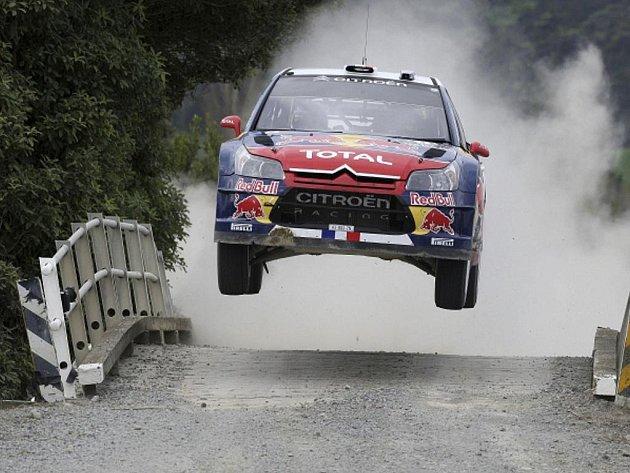 Sébastien Loeb na Novozélandské rallye.