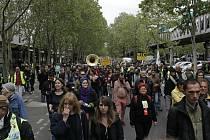 Protest hnutí žlutých vest v Paříži.