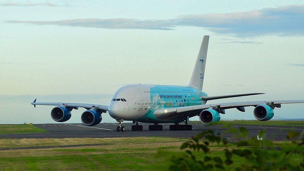 Airbus A380 společnosti Hi Fly