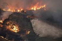 Lesní požár u East Gippsland v australském státě Victoria