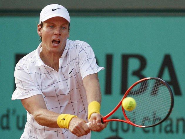 Tomáš Berdych na Roland Garros.