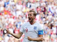 Harry Kane slaví jednu ze svých branek