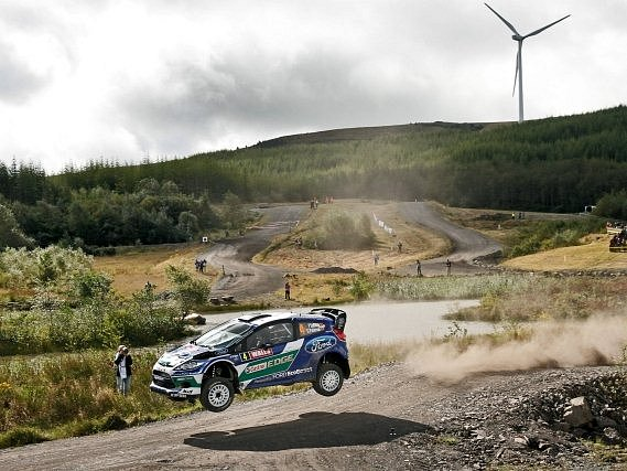 Jari-Matti Latvala na Britské rallye.