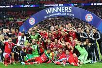 Vítězové Ligy mistrů fotbalisté Bayernu.