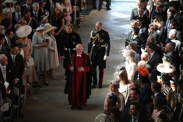 William a Harry v kapli Svatého Jiří