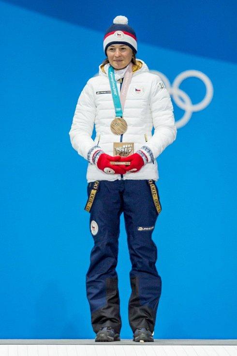 Medailová ceremonie - Veronika Vítková brala bronz