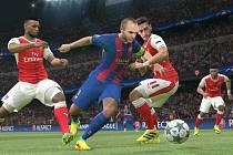 Počítačová hra Pro Evolution Soccer 2017.