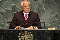 Václav Klaus hovoří v OSN