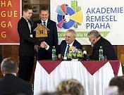 Prezident Miloš Zeman se zúčastnil zahájení školního roku na Akademii řemesel - Střední škole technické v Praze.