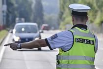 Dopravní policie, kontrola řidičů - ilustrační foto