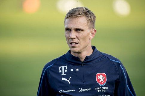 Trénink české fotbalové reprezentace před zápasem Ligy národů se Slovenskem 8. října v Praze. Bořek Dočkal