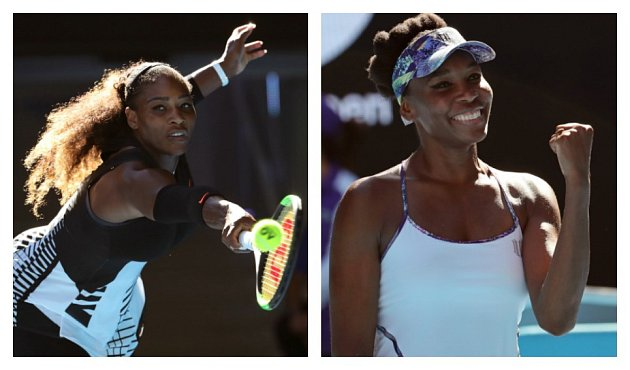 Serena vs. Venus Williamsová.