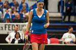 Petra Kvitová v semifinále Fed Cupu.